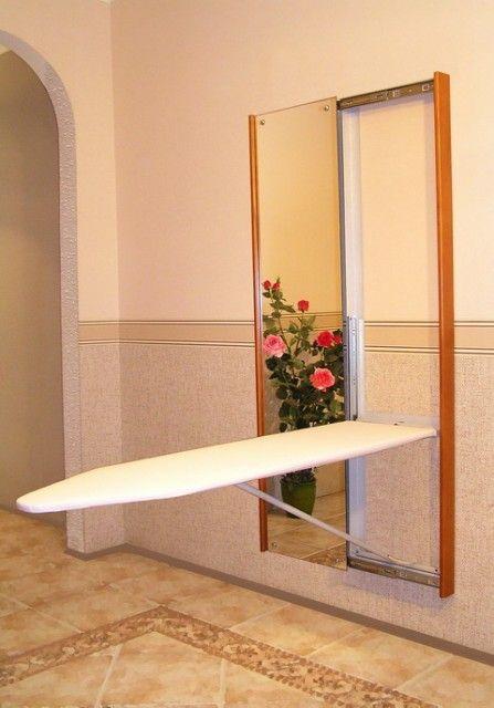 Гладильная доска внутри зеркала