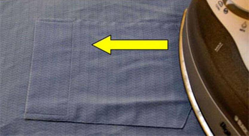 гладим карманы на рубашке
