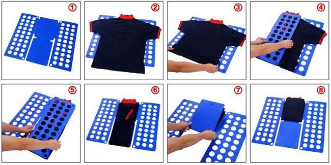 как сложить футболку с картоном