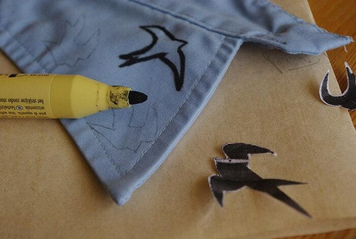 маркер на одежде