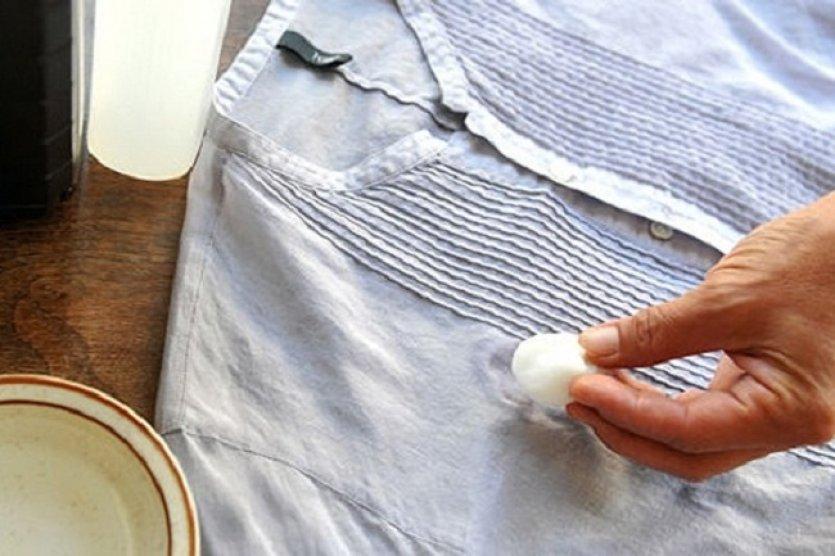 Чем удалить пятна от доместоса на одежде фото
