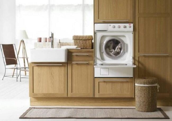 установка стиральной машины на цоколь