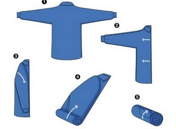 универсальный способ складывания рубашки
