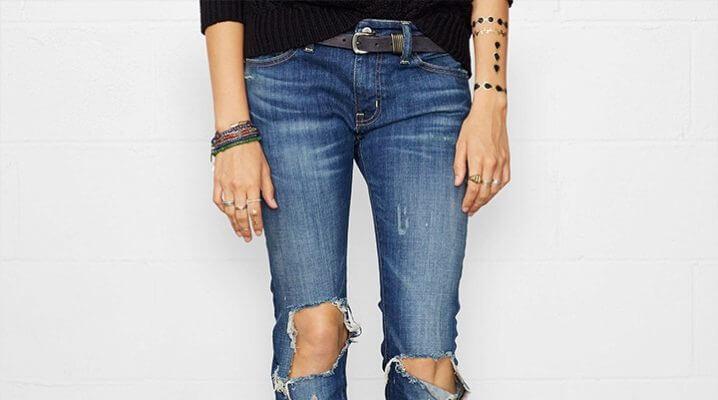 джинсы растянулись в коленях